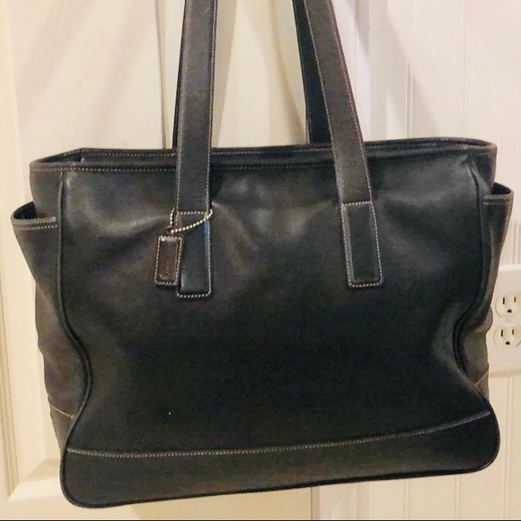 6b38c564 Coach Extra Large Leather Shopper Tote, Travel Bag